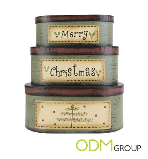 Christmas nested boxes - Promotional Idea