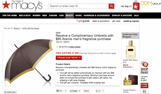 Gift with Purchase: Umbrella