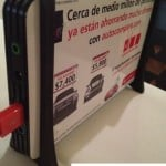 Promo phone chargers by Santander Group