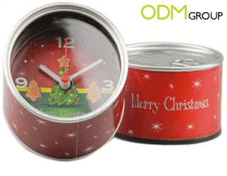 Canned Clock Christmas