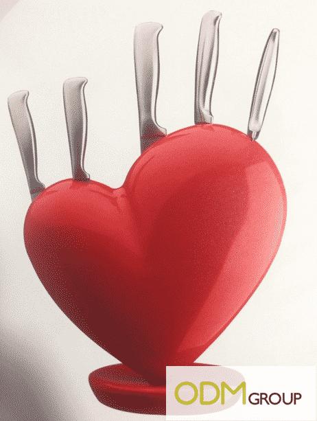Kitchen Product: Love Knife Holder Set