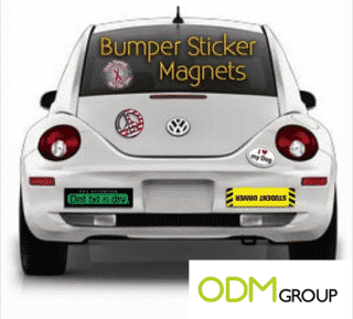 Pump your ride with these customized stickers for your car bumper?