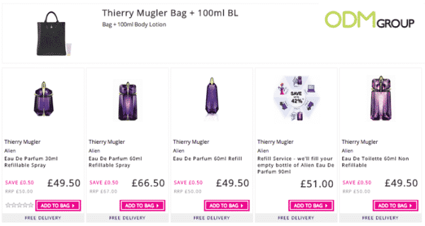 Gift with Purchase: Thierry Mugler Bag