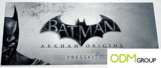 Batman press kit: perfect media gift for any conference.