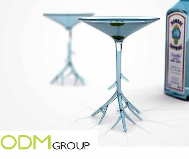 Marketing Gifts: Bombay Saphire Martini Glass