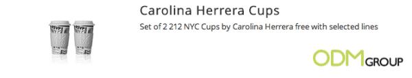 Carolina Herrera Cup Set Promotion
