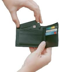 Charge card in wallet