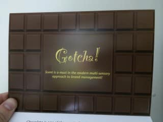 Smelly Chocolate Flyer: Food promotional Gifts