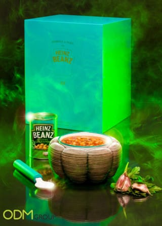 Creative promo packaging. Heinz Beanz Flavour Experience