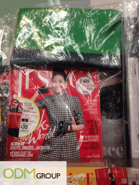 Jessica Magazine Duo Tone Tote Bag