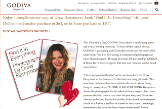 Godiva - Valentine's day gift