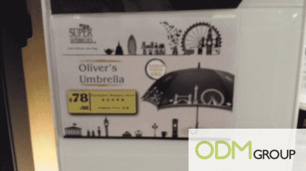 Oliver's Umbrella Promotional Offer