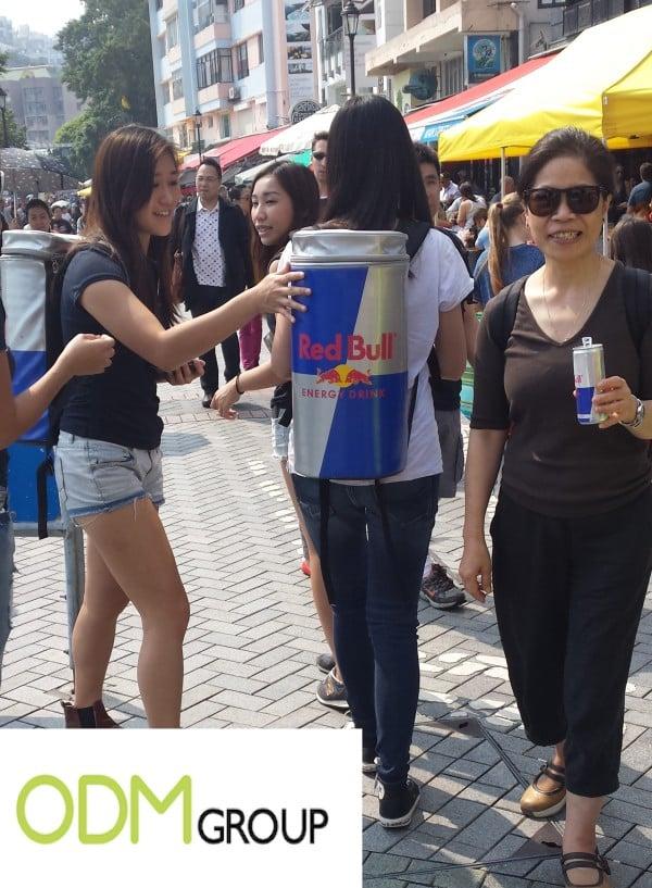 Red Bull street marketing