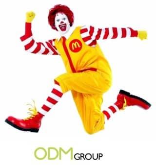 Ronald Mc Donald brand character