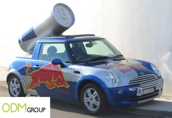 Red Bull promotional car