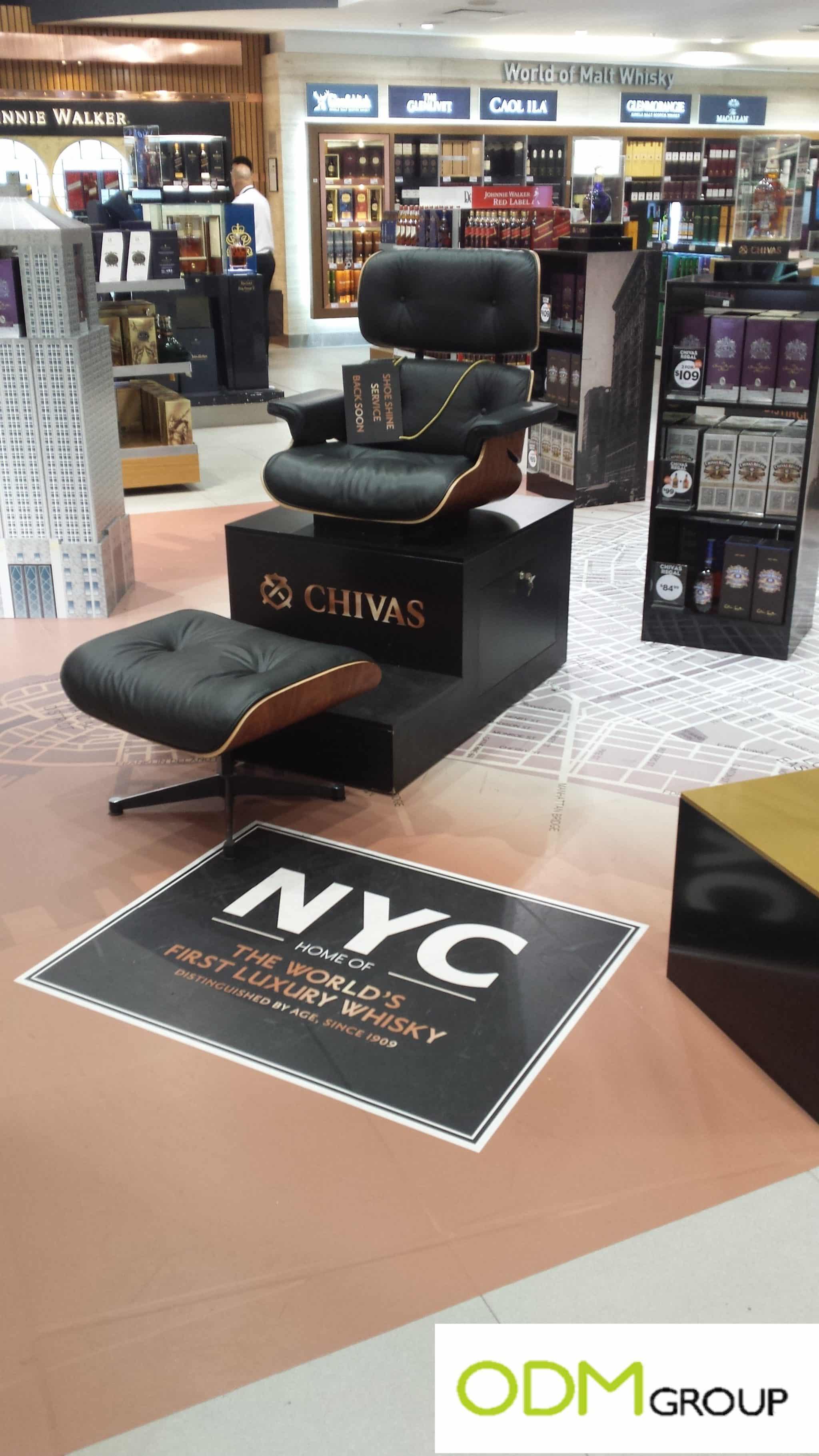 Eye-catching POS display by Chivas