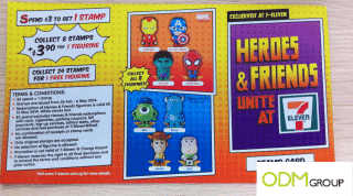 Promo figurines at 7-Eleven in Singapore