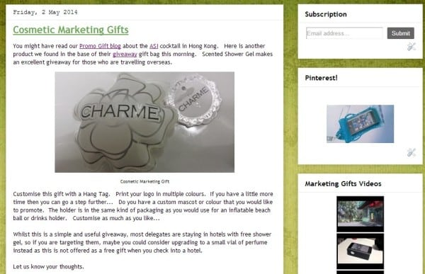 marketing gifts for events