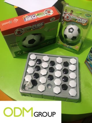 Soccer cube the ideal sports marketing gift