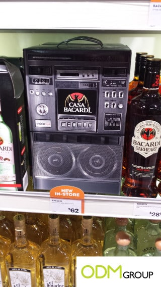 Unique promotional packaging by Bacardi