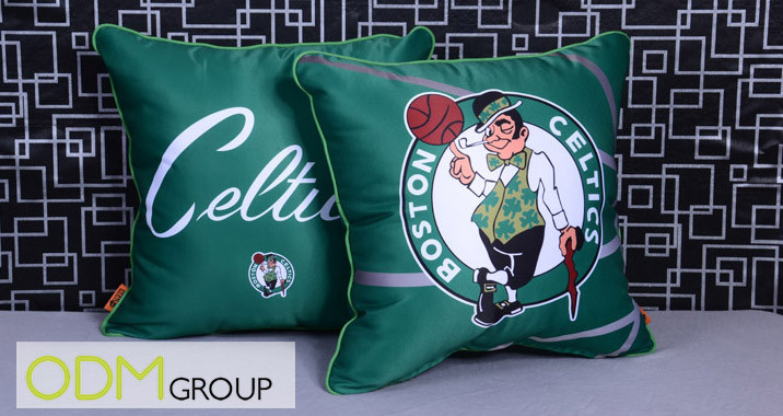Promotional giveaway pillow