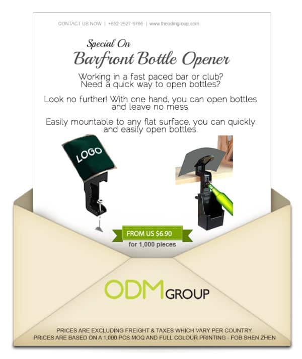 Special Offer for Bar Marketing - Barfront Bottle Opener