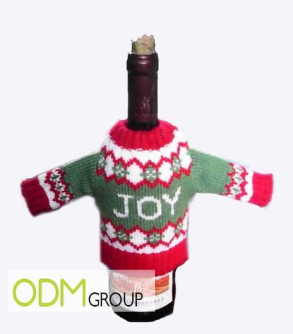 New trend for Christmas promo: wine sleeve