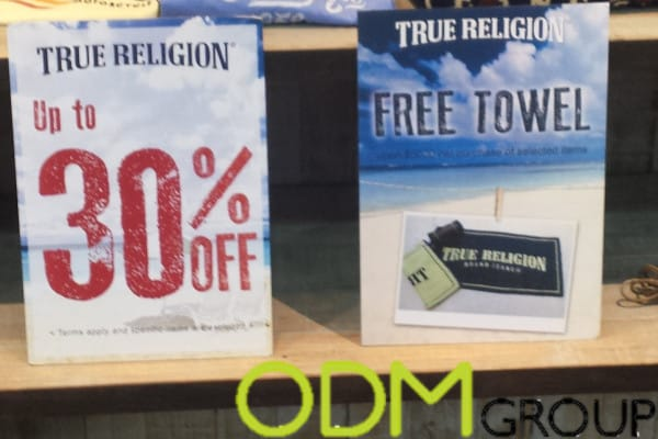 Instore POS display by True religion