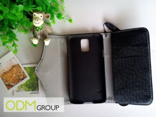 Durable multi-function promotional phone wallet