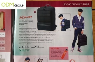 Gift with purchase umbrella as Samsonite's in flight promo