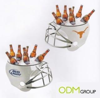 American football ice bucket helmet