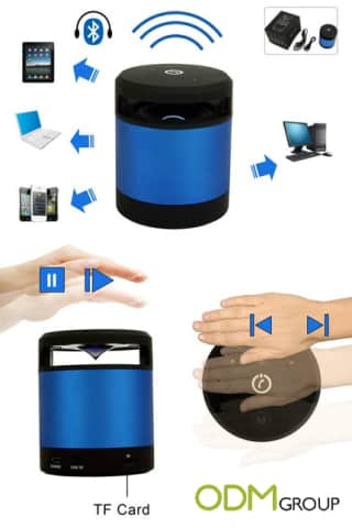 Handy bluetooth speaker promotion to raise your branding