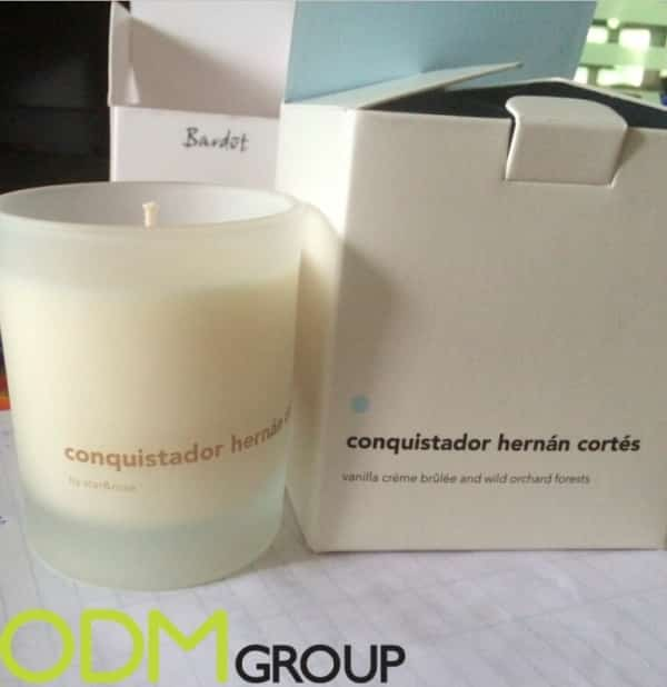 Candle promo gift - high-end scented candle
