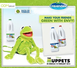 Cravendale and The Muppets – Kermit Backpack used for dairy promos