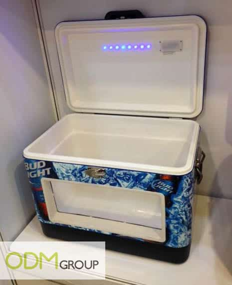 Beer Promo - Bud Light LED Cooler opened