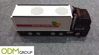 USB truck speaker as a freight marketing gift