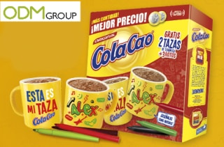 Promotional colouring cup by Cola Cao