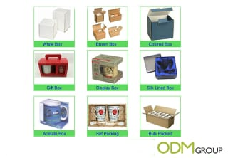 Promotional colouring cup packaging options