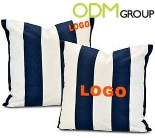 Branded cabana pillow