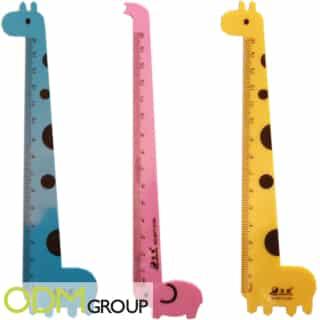Custom shaped ruler