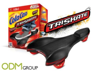 Promotional triskate as an on-pack promotion by Cola Cao
