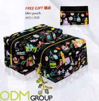 Promotional cosmetic bag – gift with purchase from LeSportsac
