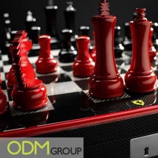 Luxury customized chess set by Ferrari