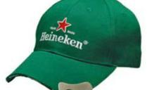 Promotional baseball cap with bottle opener