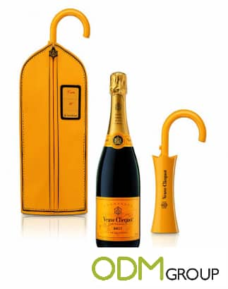 Promotional Champagne Suit bag by Veuve Clicquot