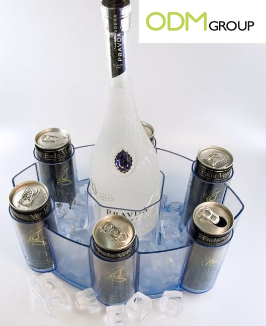 Exclusive Ice Bucket as a POS Display by Pravda Vodka