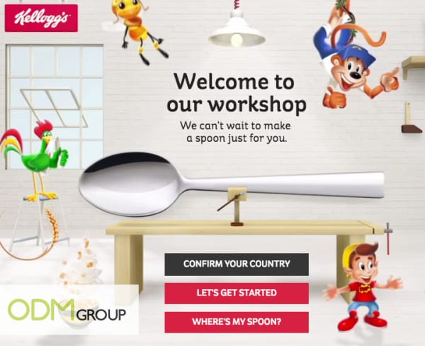 kelloggs logo engraved spoon - special offer