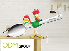 logo engraved spoon - kelloggs