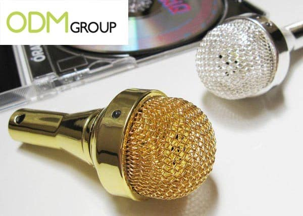 Promotional Portable Microphone Shaped Speaker