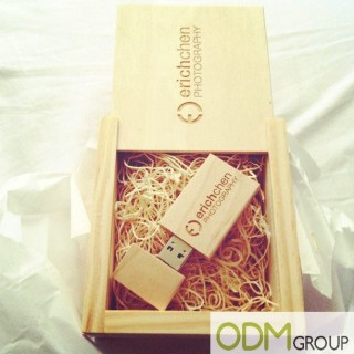 High-end Wooden USB Promotional Gift & Box